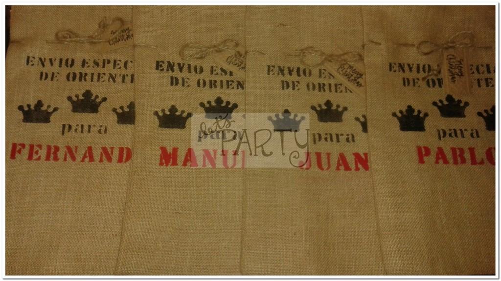 Sacos de arpillera personalizados para Reyes